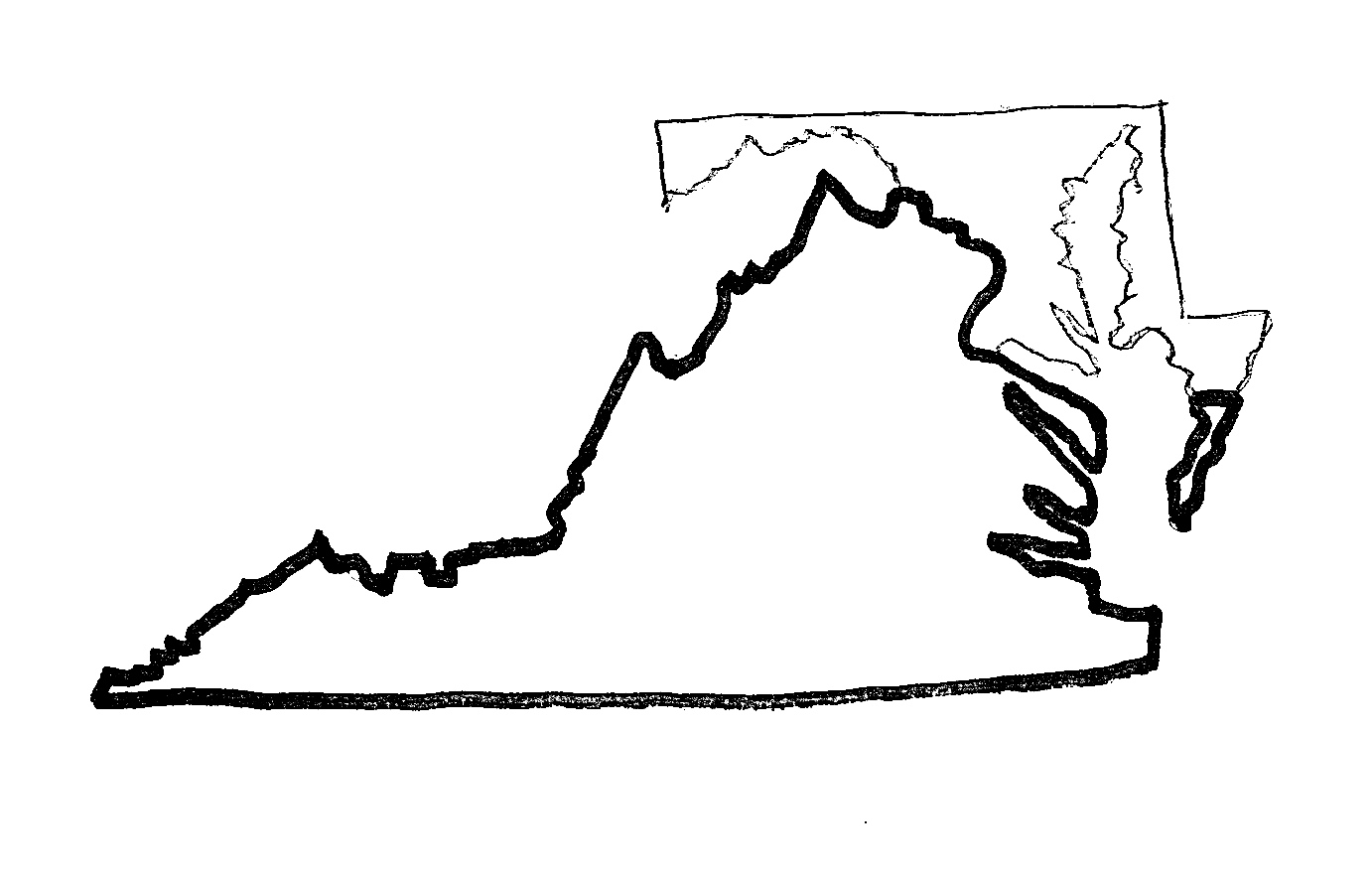 But Since Erosion Had Gradually Eliminated The Point, Surveyors Had To  Guess At Its Location Very Simply, They Guessed Wrong And Virginia Ended  Up With